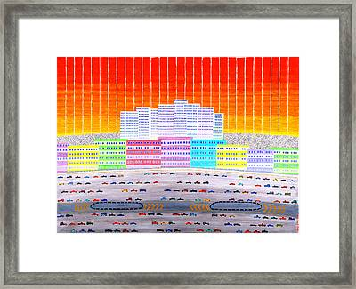 L.a. Cityscape Framed Print