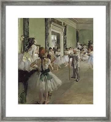 La Classe De Danse Framed Print by Degas