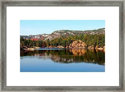 Framed Print featuring the photograph La Cloche Mountain Range by Debbie Oppermann