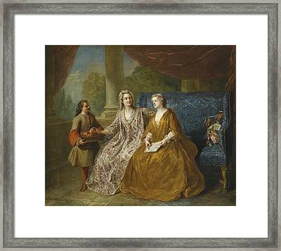 La Collation Framed Print by Francois de Troy