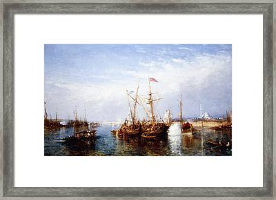 La Corne D'or, Constantinople Framed Print by Felix Ziem