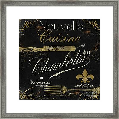 La Cuisine Iv Framed Print by Mindy Sommers