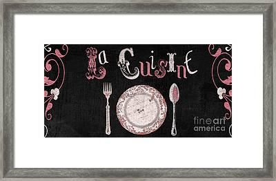La Cuisine Vintage Dinner Plate Framed Print