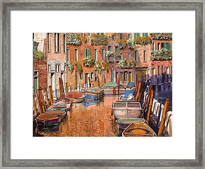 La Curva Sul Canale Framed Print by Guido Borelli