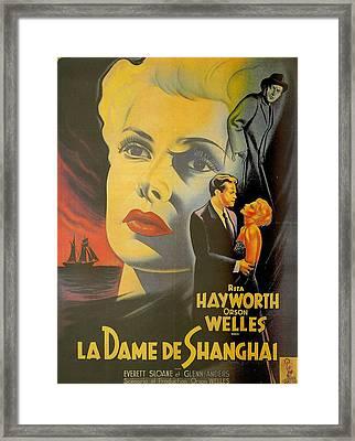 La Dame De Shanghai Framed Print by Georgia Fowler