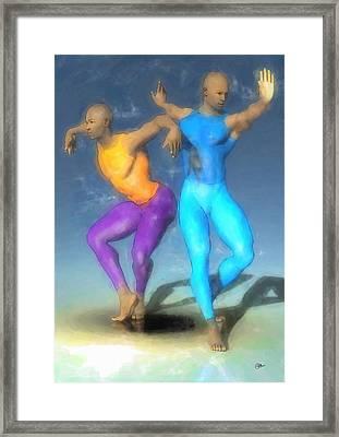La Danza Del Fenix Framed Print by Quim Abella
