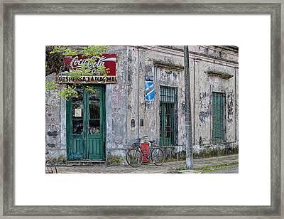 La Diagonal - Carmen De Areco Framed Print by Hans Wolfgang Muller Leg