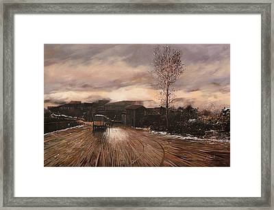 La Diligenza Framed Print by Guido Borelli
