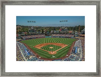 La Dodgers Los Angeles California Baseball Framed Print