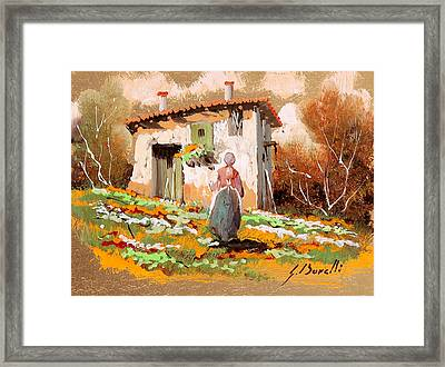 La Donzelletta Framed Print by Guido Borelli