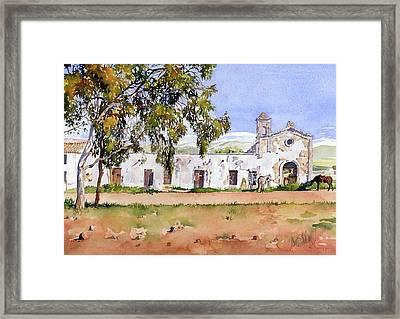 La Ermita Del Fraile Framed Print by Margaret Merry