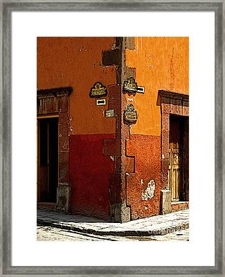 La Esquina 1 Framed Print by Mexicolors Art Photography