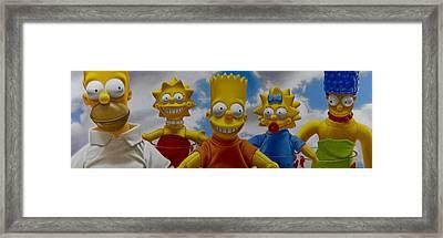 La Famiglia Simpson Framed Print by Tony Chimento
