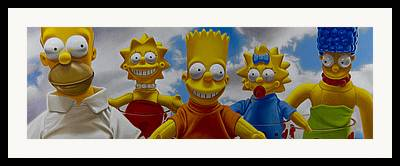 Bart Simpson Framed Prints
