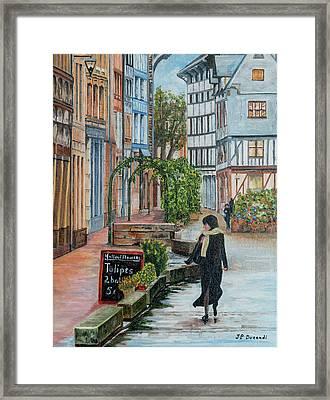 La Femme Aux Tulipes Framed Print