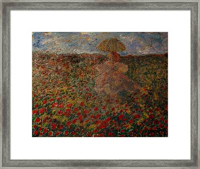 La Femme Du Provence Framed Print by Penfield Hondros