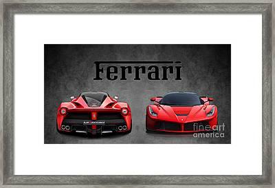 La Ferrari. Framed Print