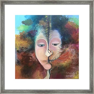 La Fille Foret Framed Print by Art Ina Pavelescu