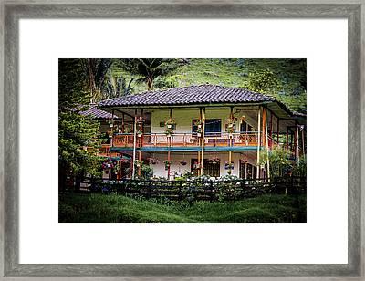 La Finca De Cafe - The Coffee Farm Framed Print