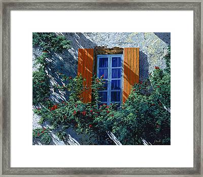 La Finestra E Le Ombre Framed Print by Guido Borelli