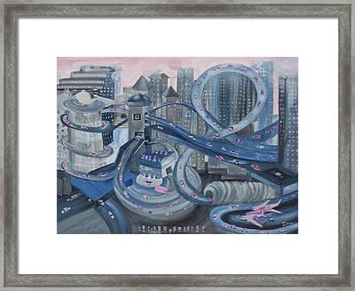 La Freeway Framed Print by Ione Citrin