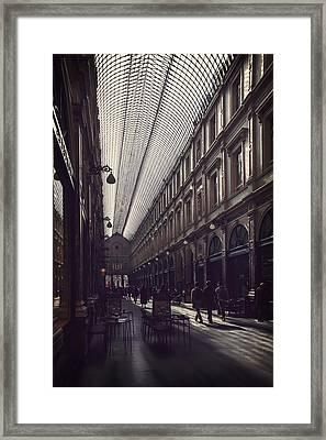 Les Galeries Brussels Framed Print