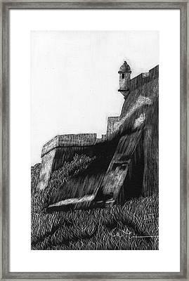 La Garita De El Morro Framed Print