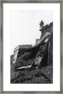 La Garita De El Morro Framed Print by Diane Cutter