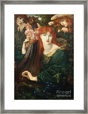 La Ghirlandata Framed Print by Dante Charles Gabriel Rossetti