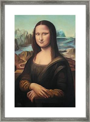 La Gioconda - Pastel  Framed Print