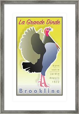 La Grande Dinde Framed Print