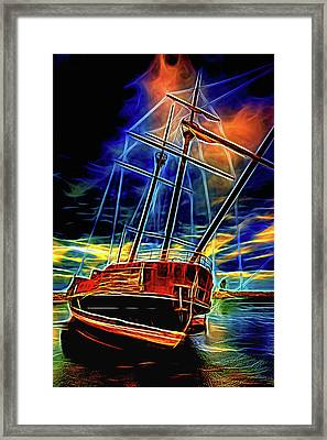 La Grande Hermine 2 - St. Elmo's Fire Framed Print by Steve Harrington
