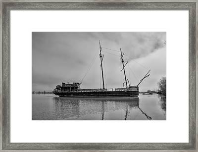 La Grande Hermine - Lake Ontario Canada Framed Print by Bill Cannon