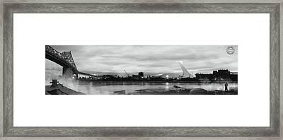 La Grande Ile Framed Print by Mirage Noir