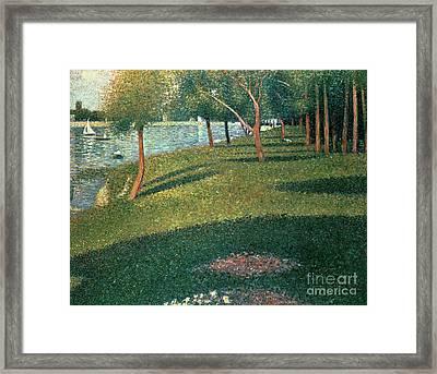 La Grande Jatte Framed Print by Georges Pierre Seurat