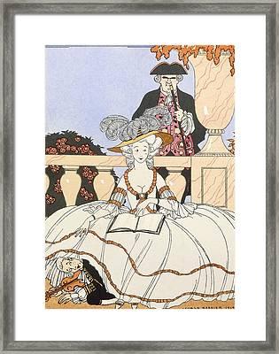 La Guirlande Framed Print by Georges Barbier