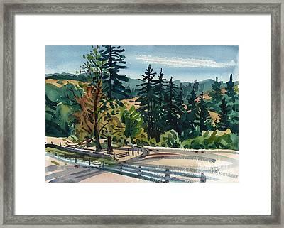 La Honda Ranch Framed Print by Donald Maier