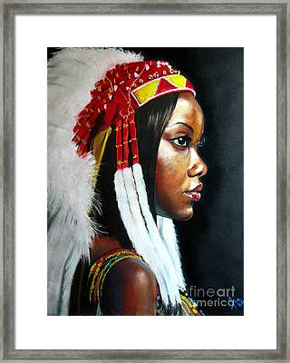 La India Framed Print by Yxia Olivares