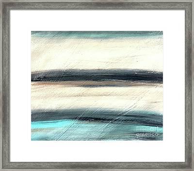 La Jolla #1 Seascape Landscape Original Fine Art Acrylic On Canvas Framed Print