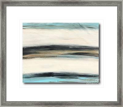La Jolla #3 Seascape Landscape Original Fine Art Acrylic On Canvas Framed Print