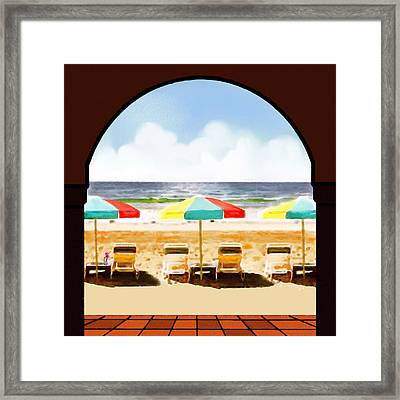 La Jolla Beach Club 1 Framed Print