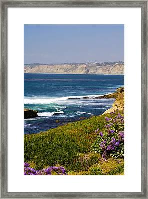 La Jolla Cliffs Framed Print by Keith Ducker