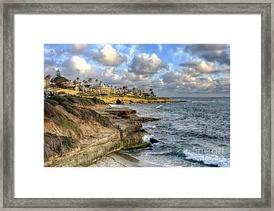 La Jolla Coastline Framed Print by Eddie Yerkish