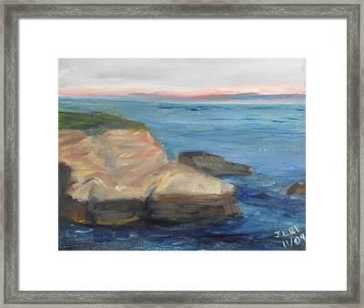 La Jolla Cove 001 Framed Print