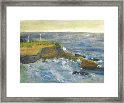 La Jolla Cove 002 Framed Print