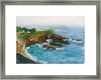 La Jolla Cove 012 Framed Print