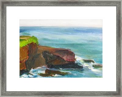 La Jolla Cove 014 Framed Print
