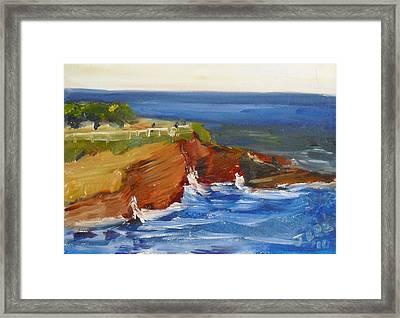 La Jolla Cove 017 Framed Print