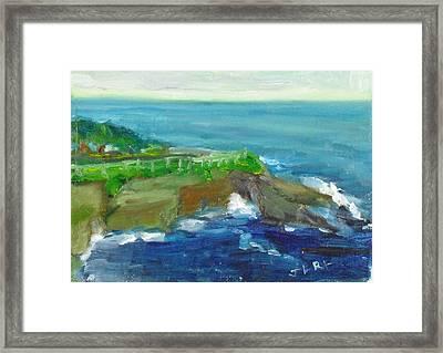 La Jolla Cove 024 Framed Print
