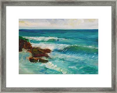 La Jolla Cove 027 Framed Print